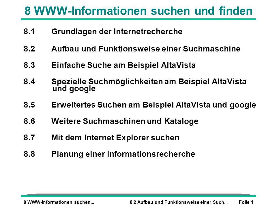 8 WWW-Informationen suchen und finden