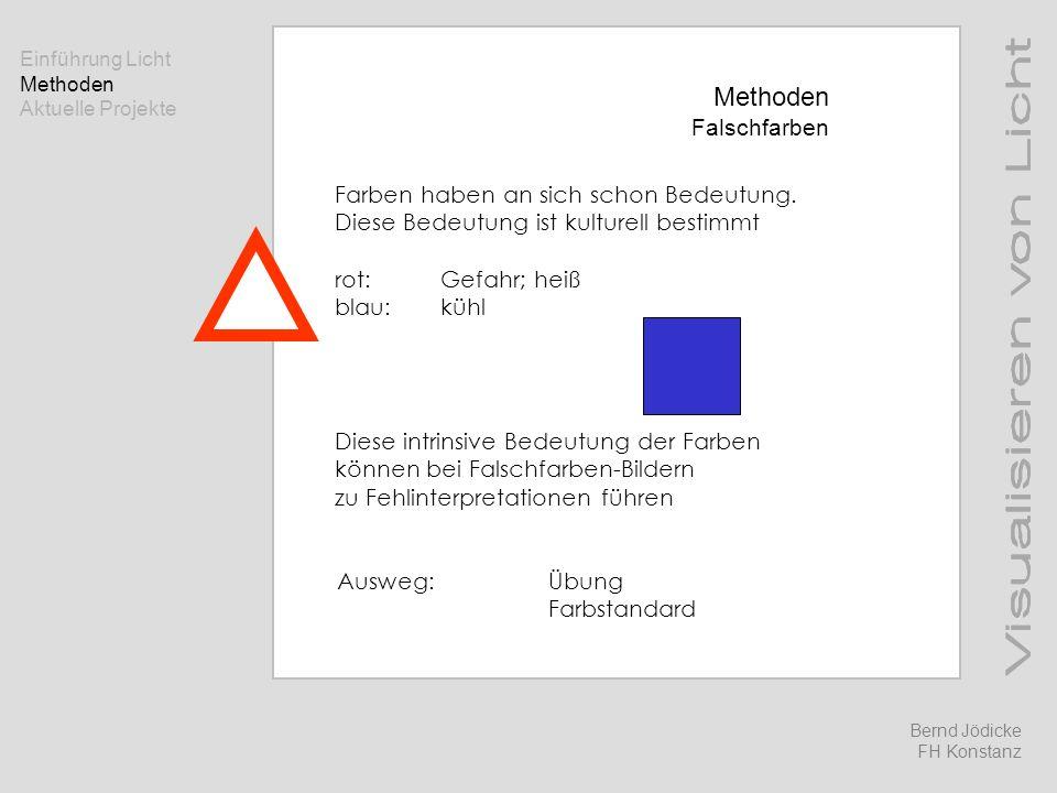 Methoden Falschfarben Farben haben an sich schon Bedeutung.