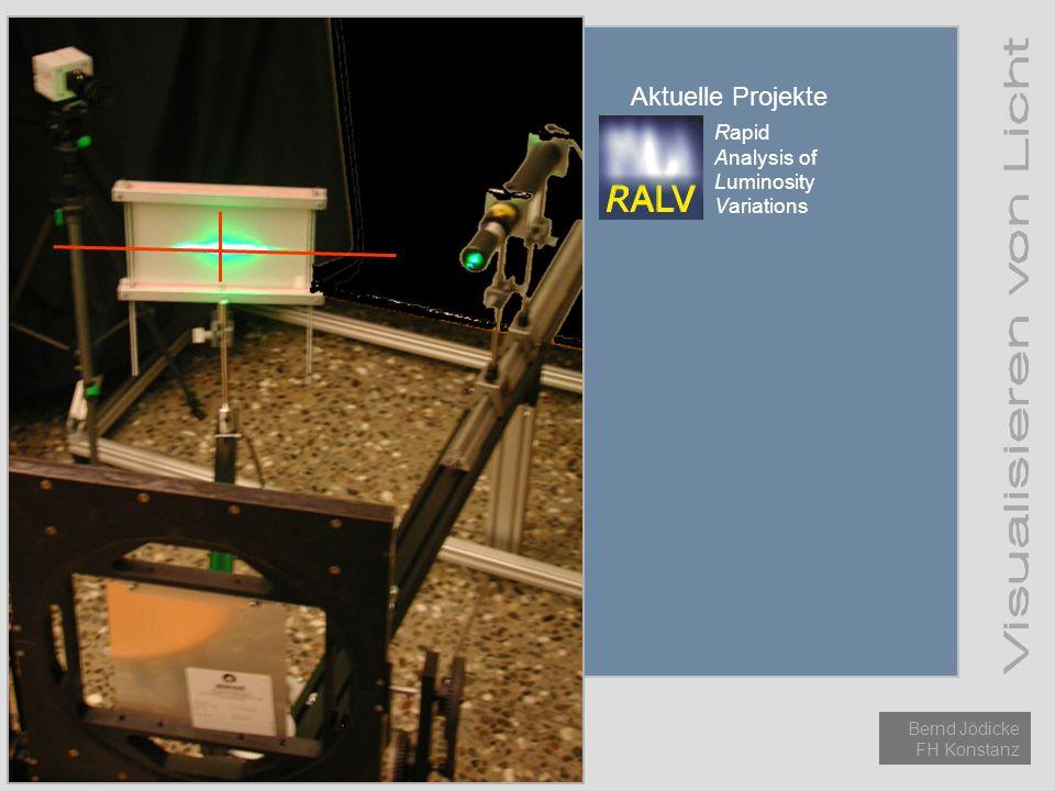 Aktuelle Projekte Einführung Licht Methoden Aktuelle Projekte Rapid