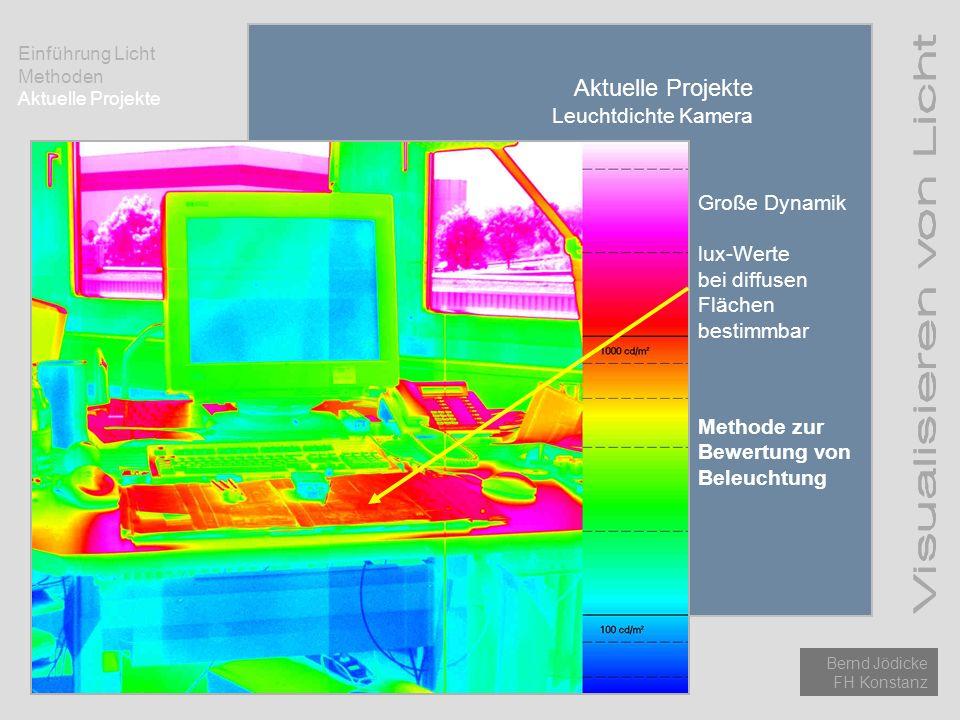 Aktuelle Projekte Leuchtdichte Kamera Große Dynamik lux-Werte