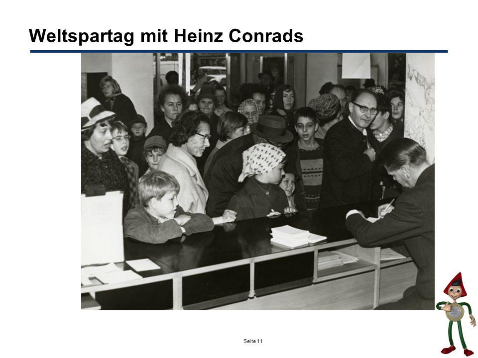 Weltspartag mit Heinz Conrads