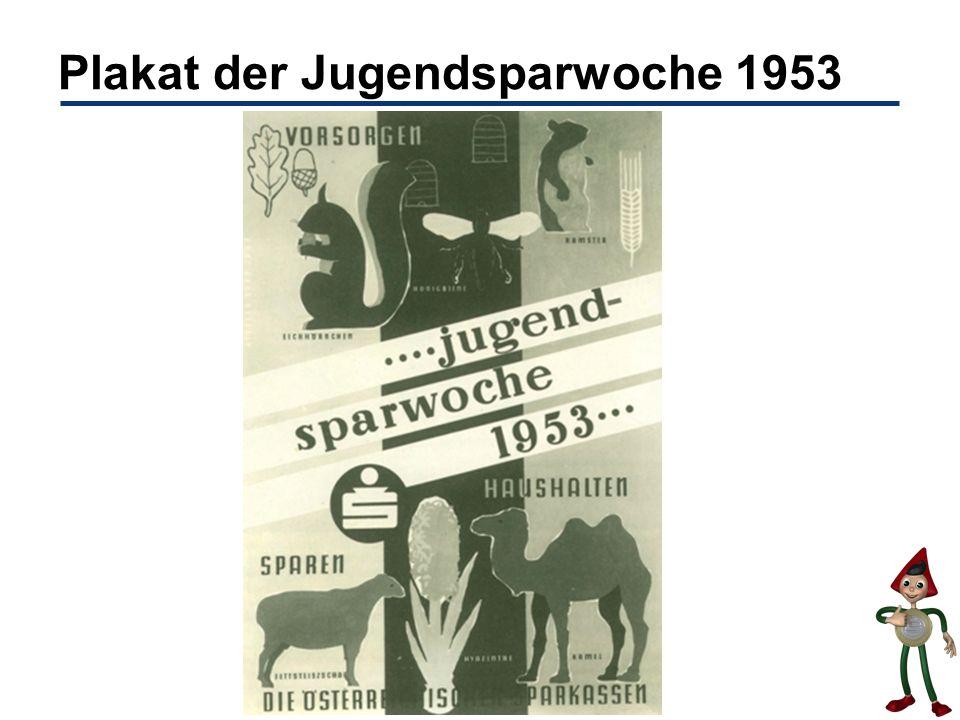 Plakat der Jugendsparwoche 1953