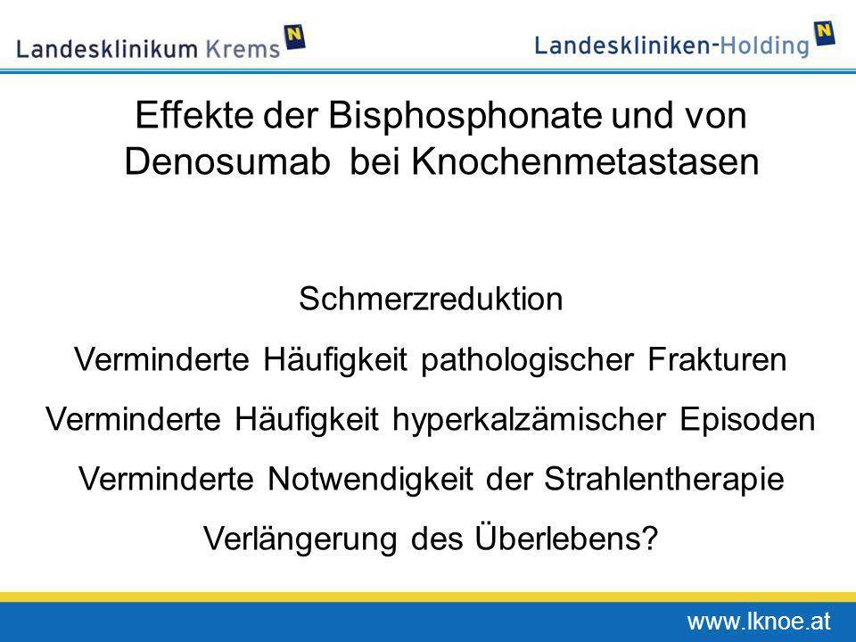 Effekte der Bisphosphonate und von Denosumab bei Knochenmetastasen
