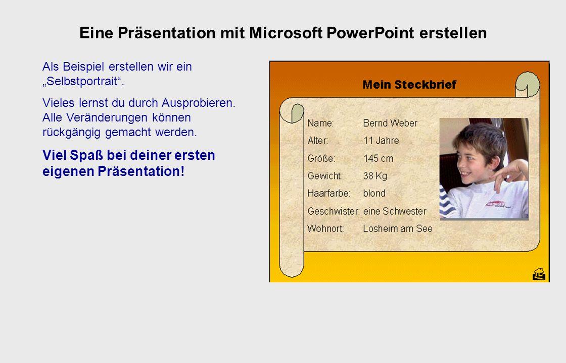 Eine Präsentation mit Microsoft PowerPoint erstellen