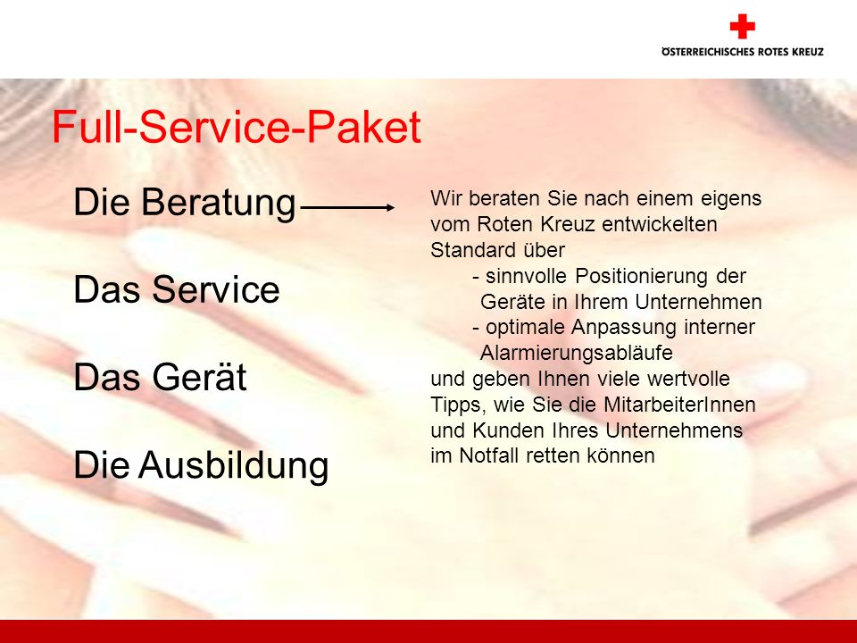 Full-Service-Paket Die Beratung Das Service Das Gerät Die Ausbildung