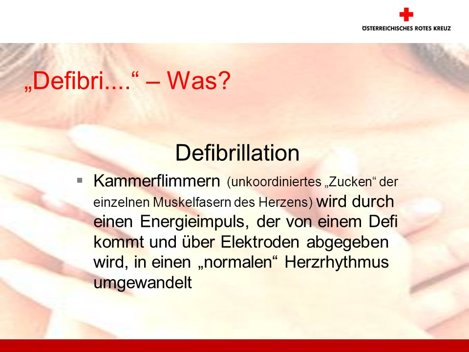 """Defibri.... – Was Defibrillation"