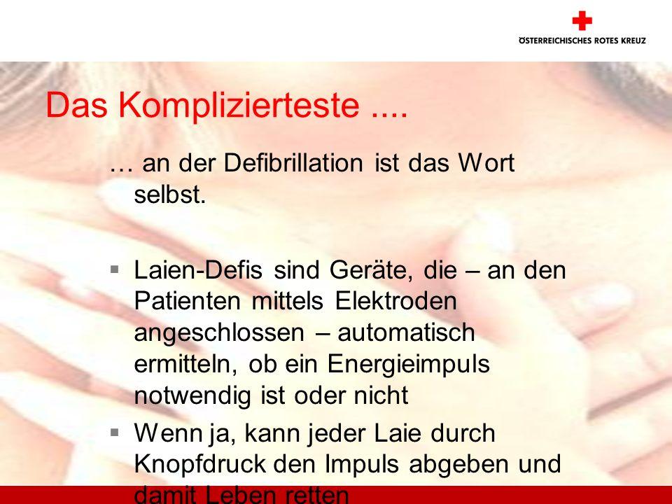 Das Komplizierteste .... … an der Defibrillation ist das Wort selbst.