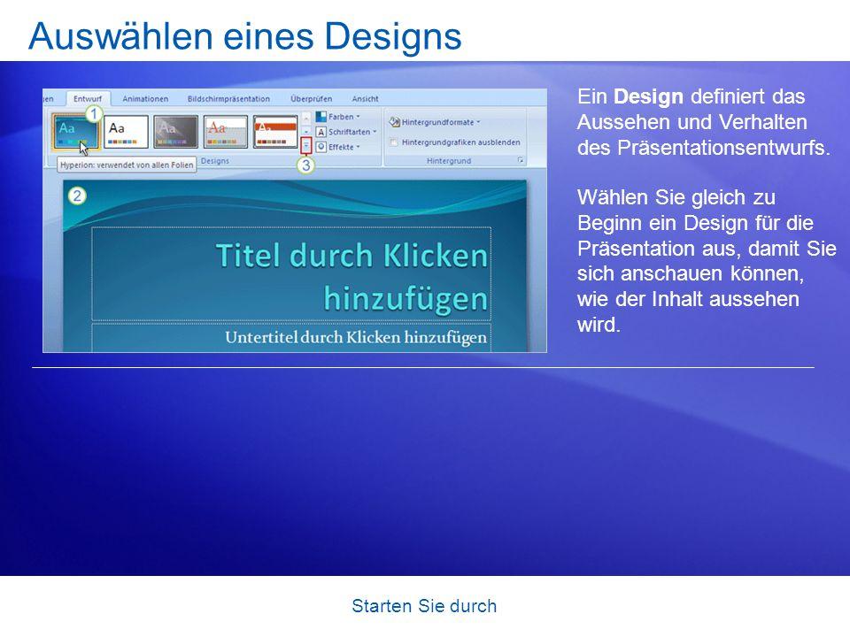 Auswählen eines Designs