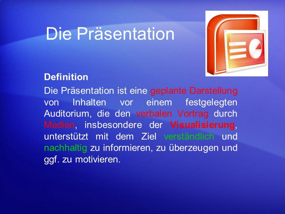 Die Präsentation Definition