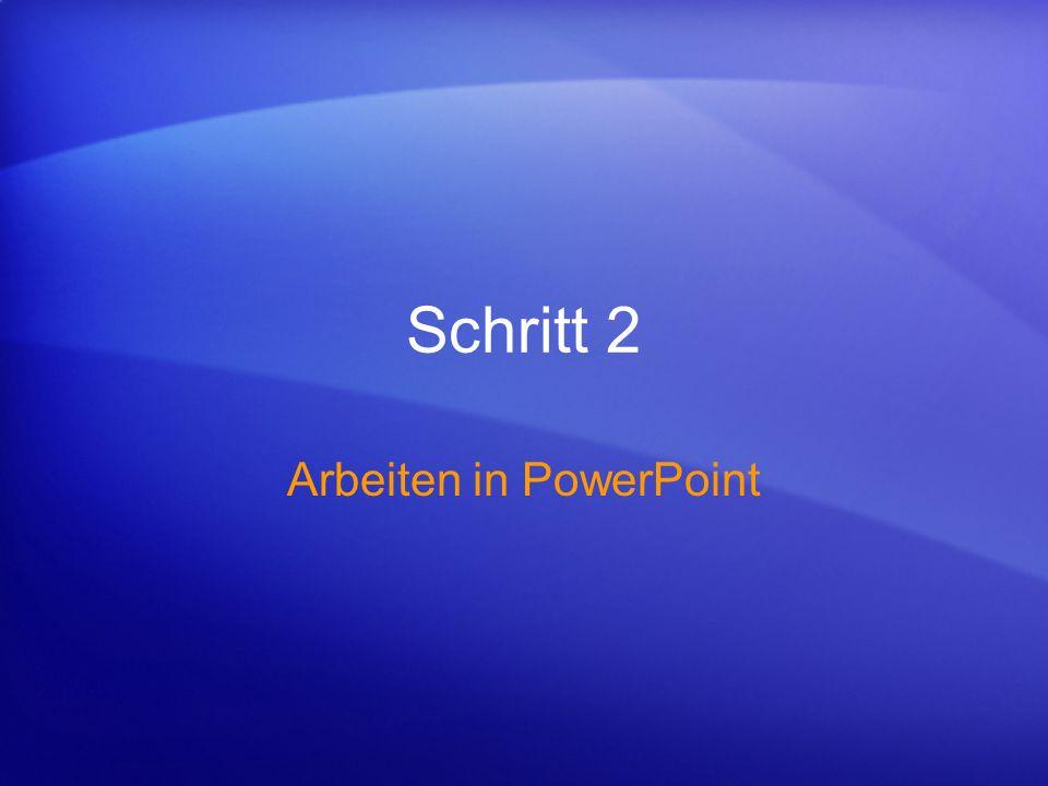 Arbeiten in PowerPoint