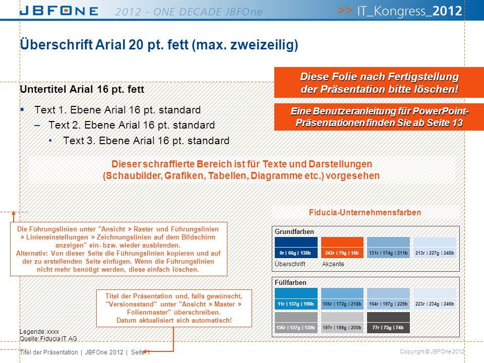 Überschrift Arial 20 pt. fett (max. zweizeilig)