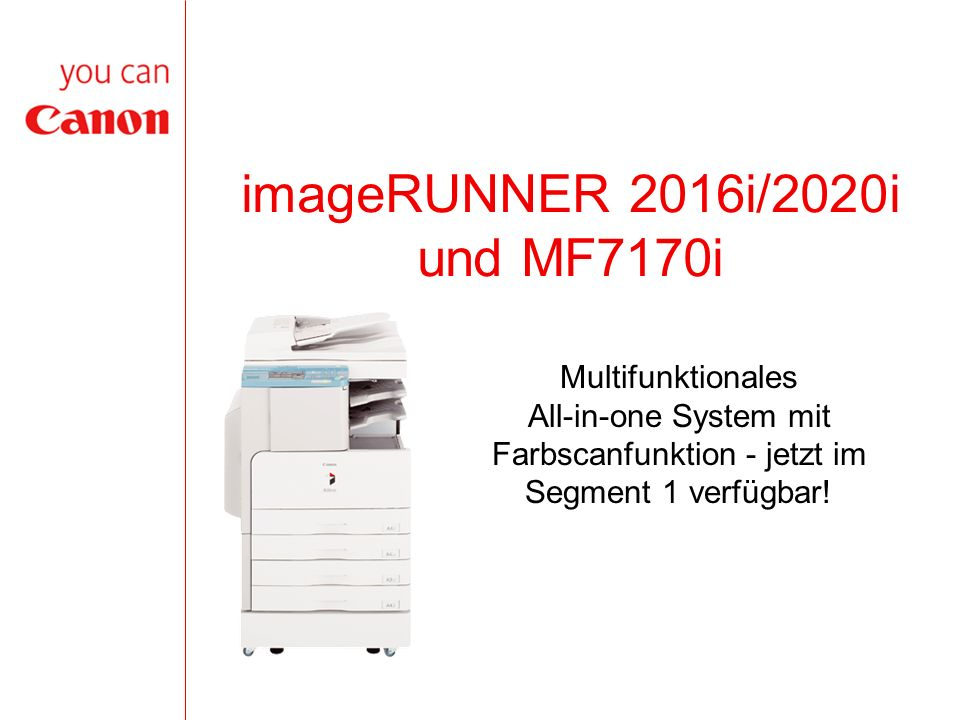 imageRUNNER 2016i/2020i und MF7170i