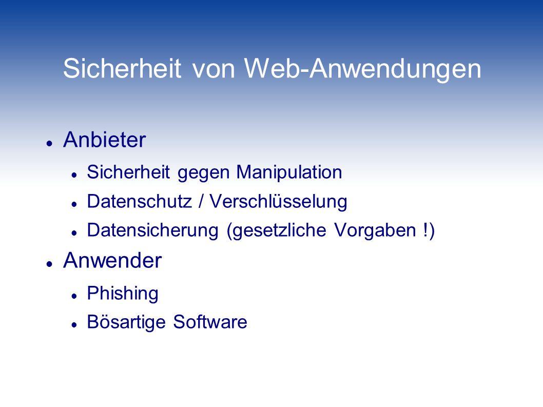 Sicherheit von Web-Anwendungen
