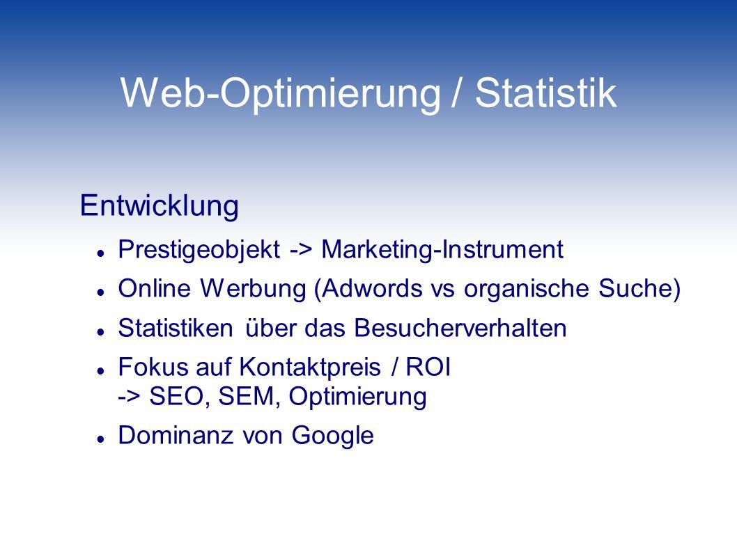 Web-Optimierung / Statistik