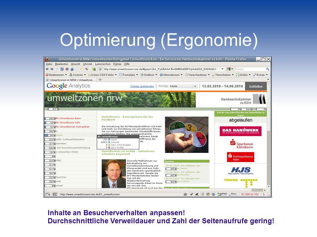 Optimierung (Ergonomie)