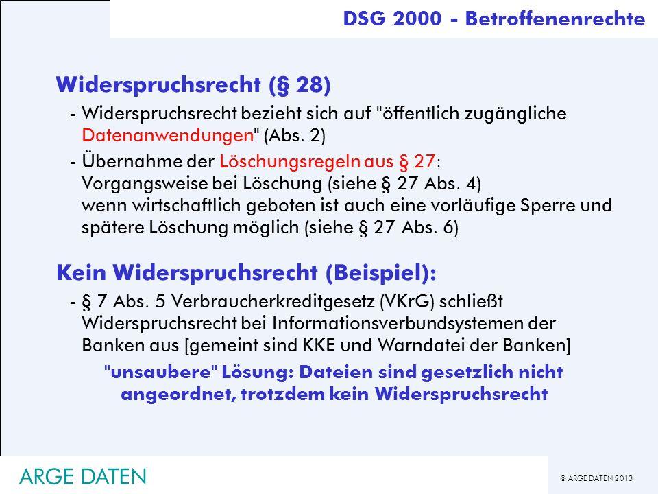 Widerspruchsrecht (§ 28)
