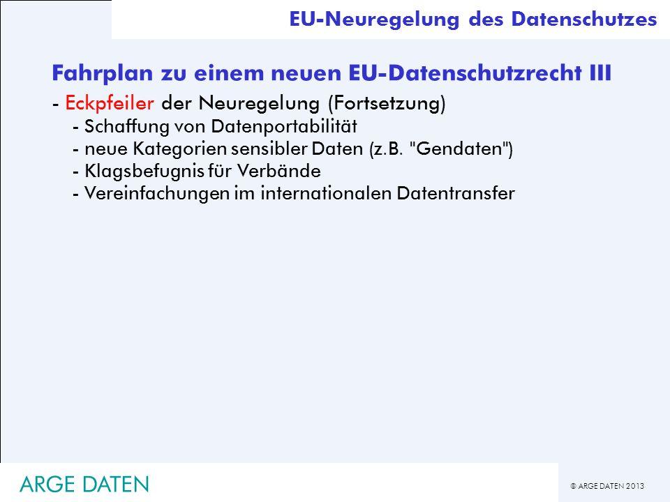 Fahrplan zu einem neuen EU-Datenschutzrecht III