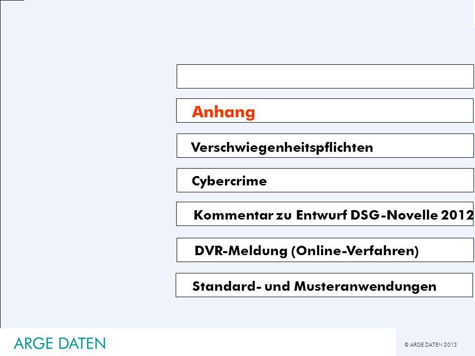 Anhang ARGE DATEN Verschwiegenheitspflichten Cybercrime