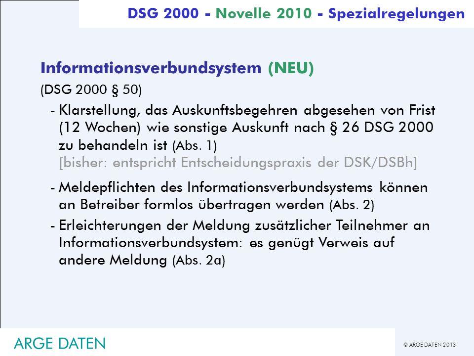 Informationsverbundsystem (NEU)
