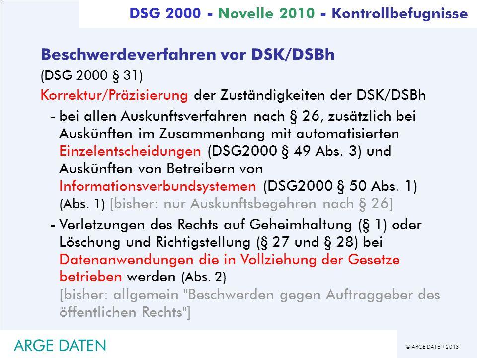 Beschwerdeverfahren vor DSK/DSBh
