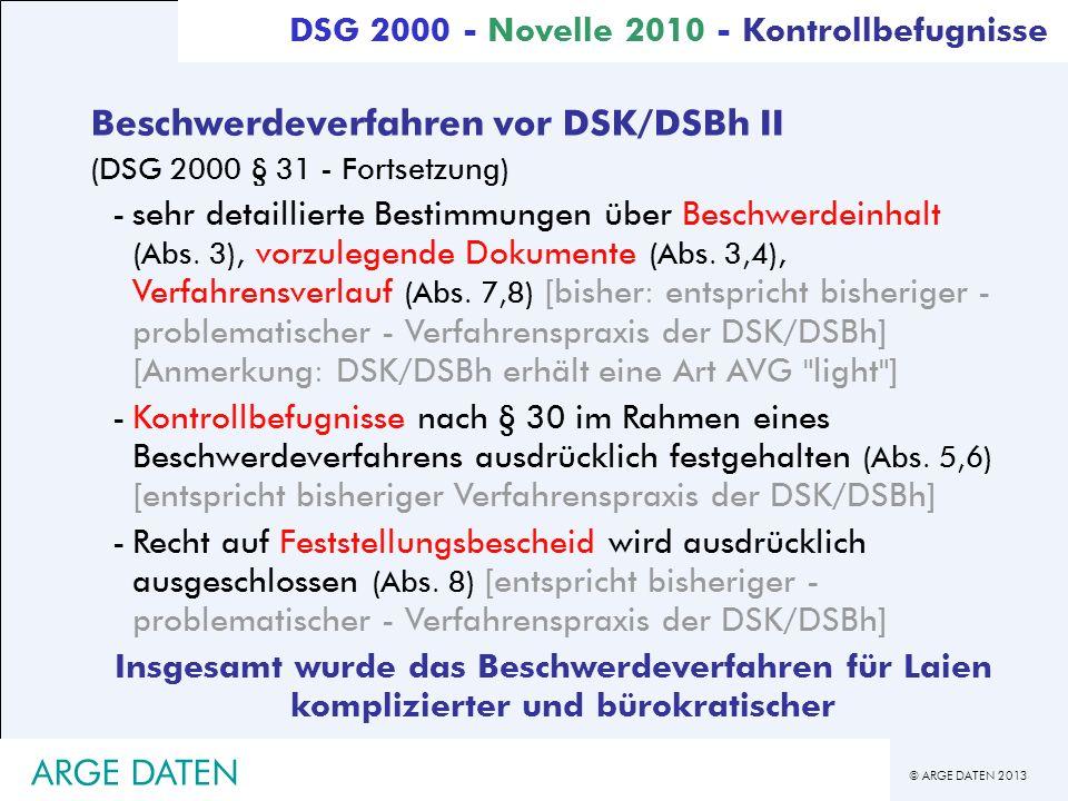 Beschwerdeverfahren vor DSK/DSBh II
