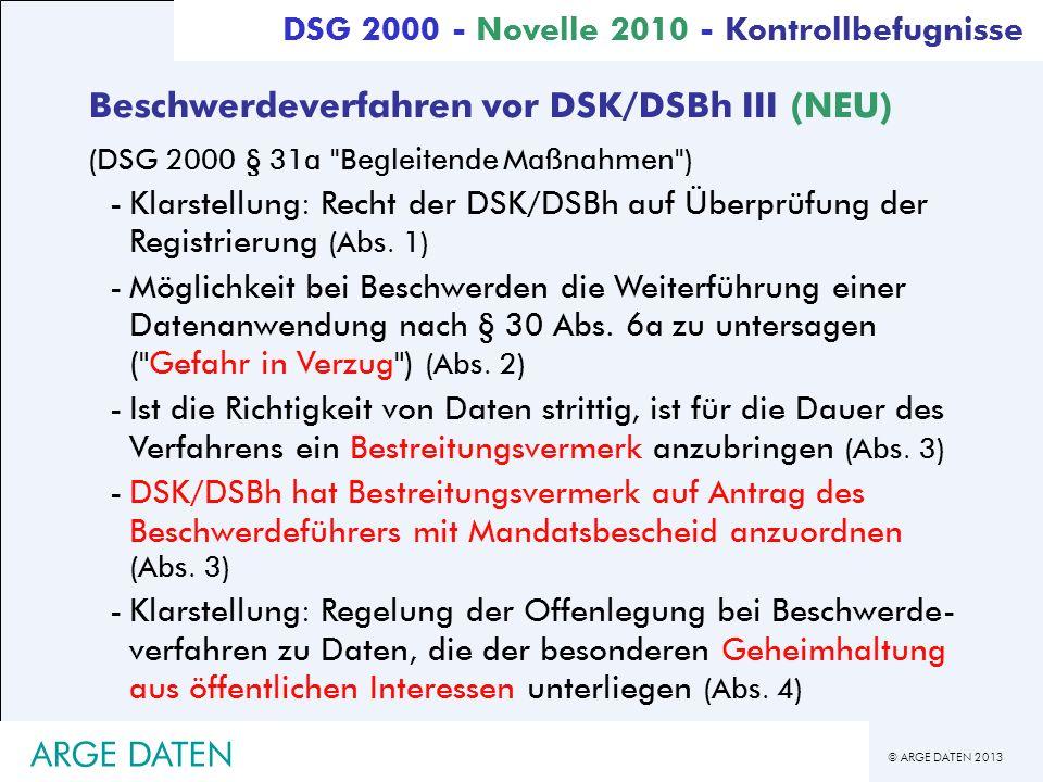 Beschwerdeverfahren vor DSK/DSBh III (NEU)