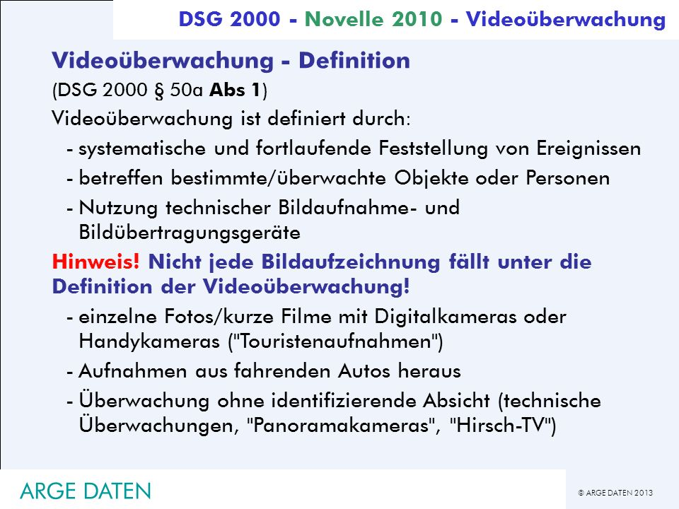 Videoüberwachung - Definition