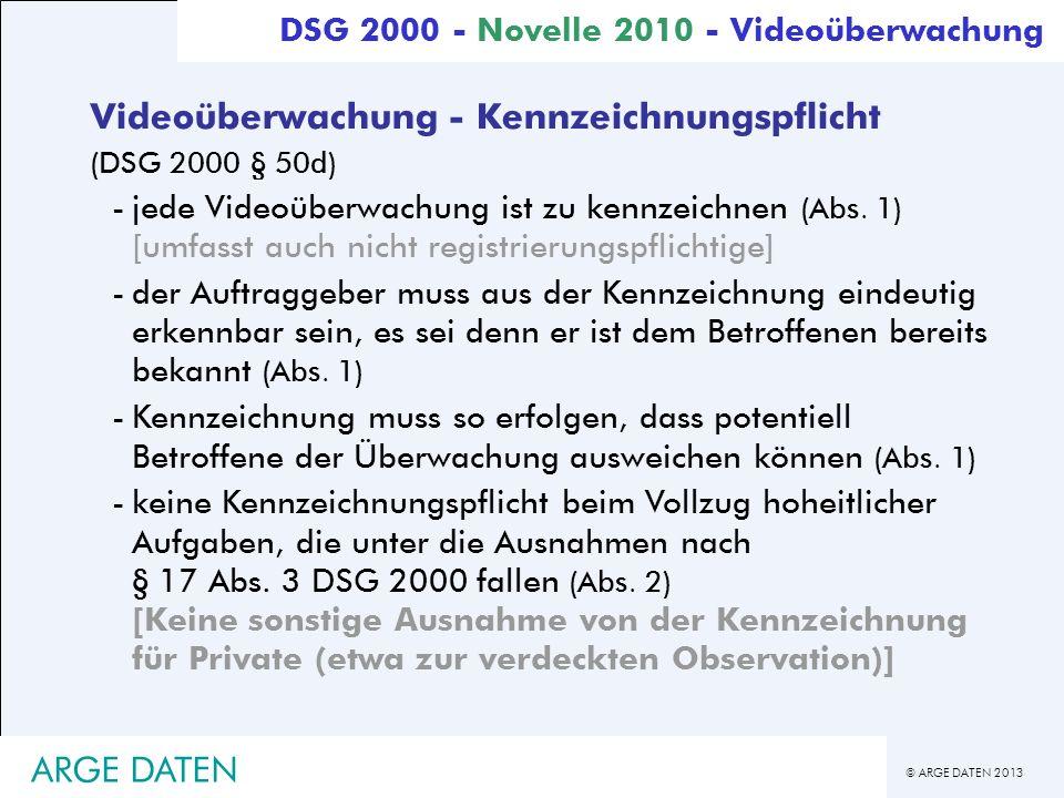 Videoüberwachung - Kennzeichnungspflicht
