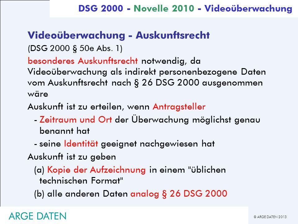 Videoüberwachung - Auskunftsrecht