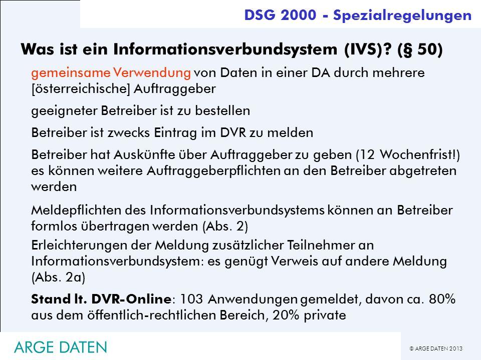 Was ist ein Informationsverbundsystem (IVS) (§ 50)
