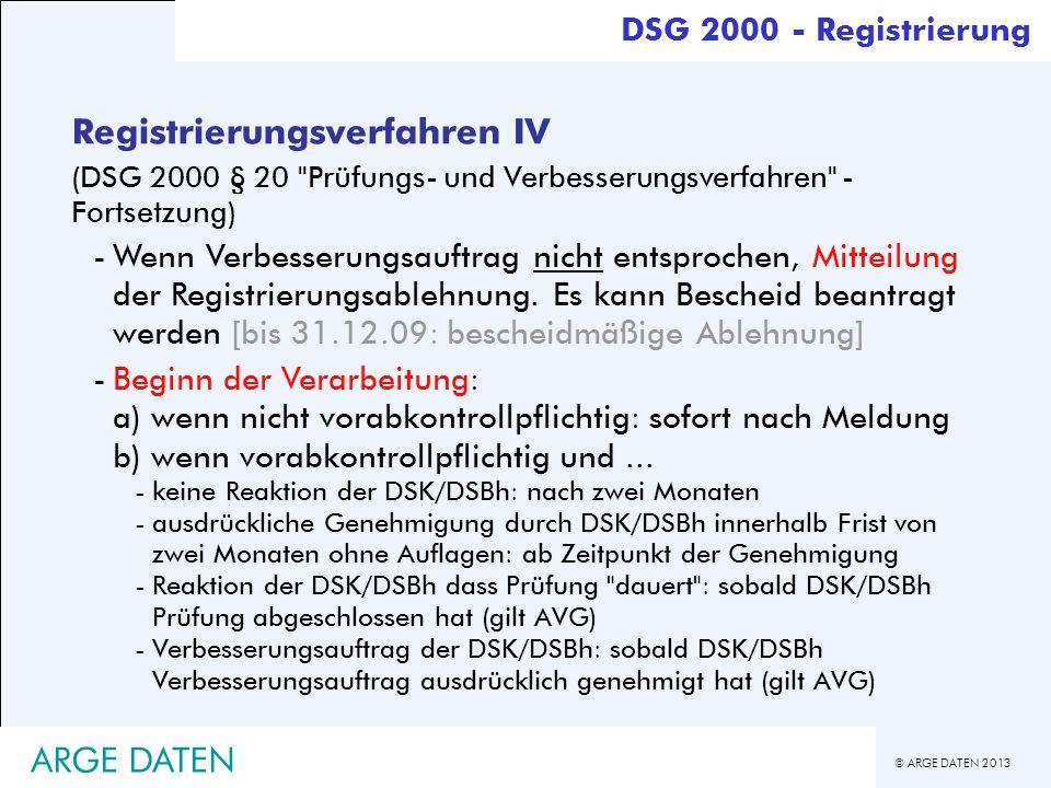 Registrierungsverfahren IV