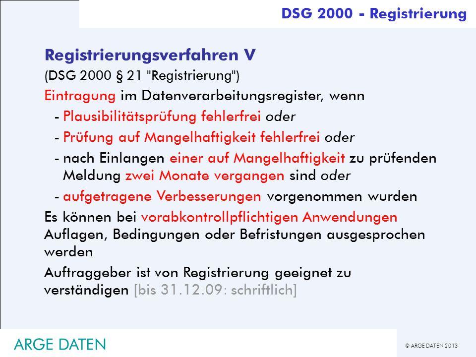 Registrierungsverfahren V