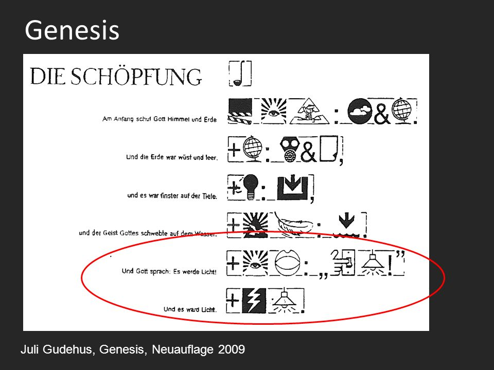 Genesis Juli Gudehus, Genesis, Neuauflage 2009