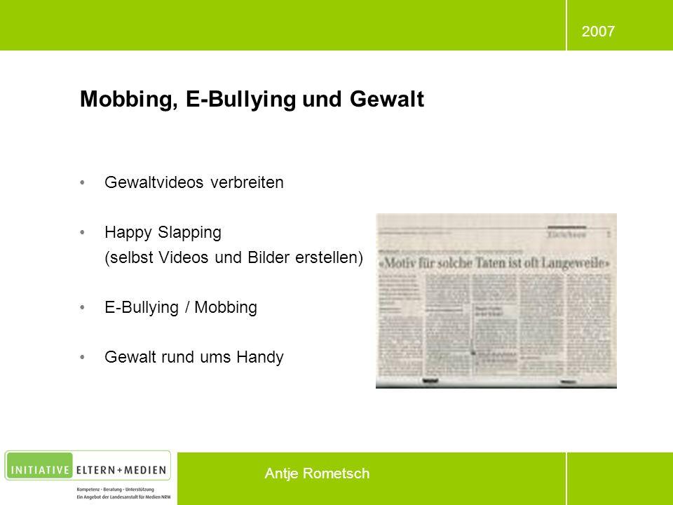 Mobbing, E-Bullying und Gewalt