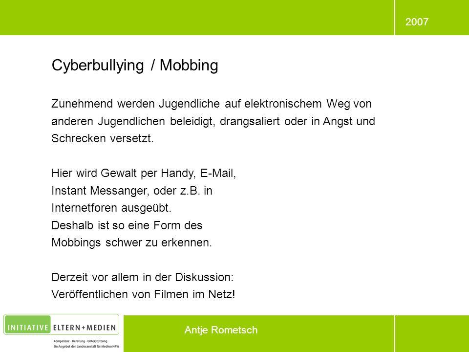 Cyberbullying / Mobbing