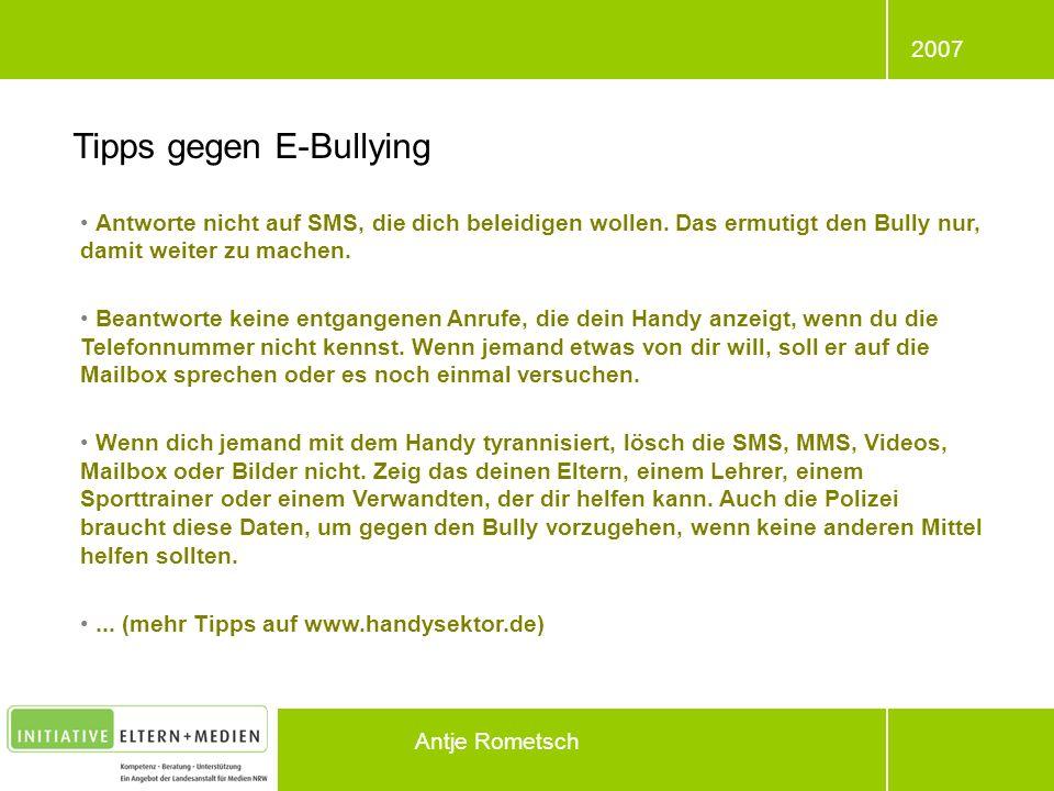 Tipps gegen E-Bullying