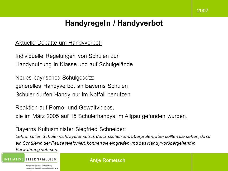 Handyregeln / Handyverbot