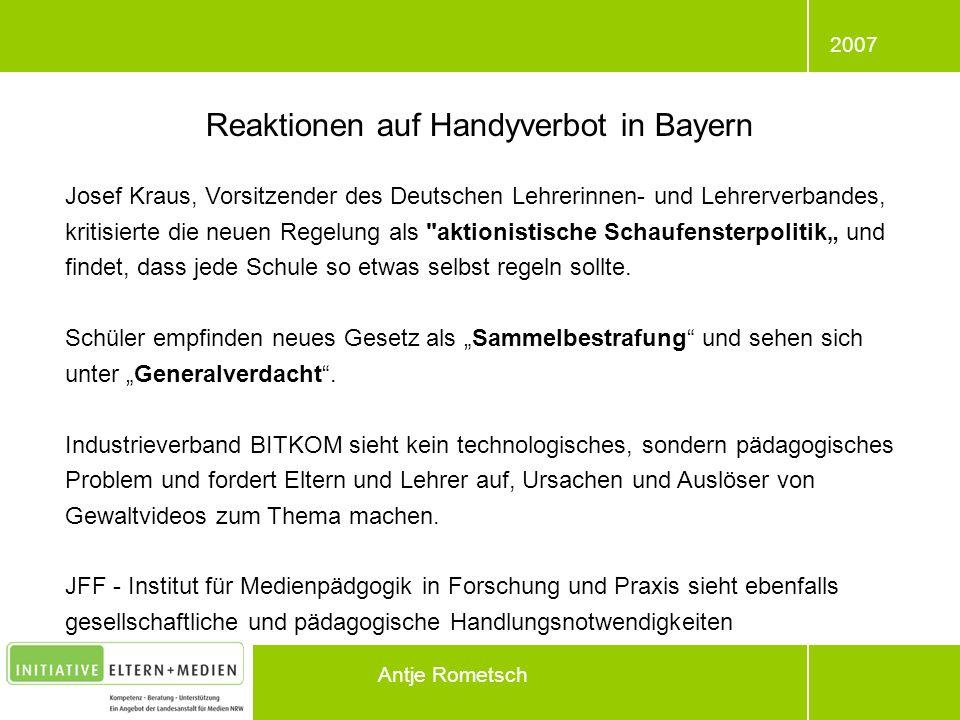 Reaktionen auf Handyverbot in Bayern