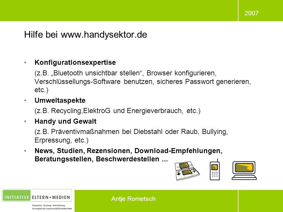 Hilfe bei www.handysektor.de