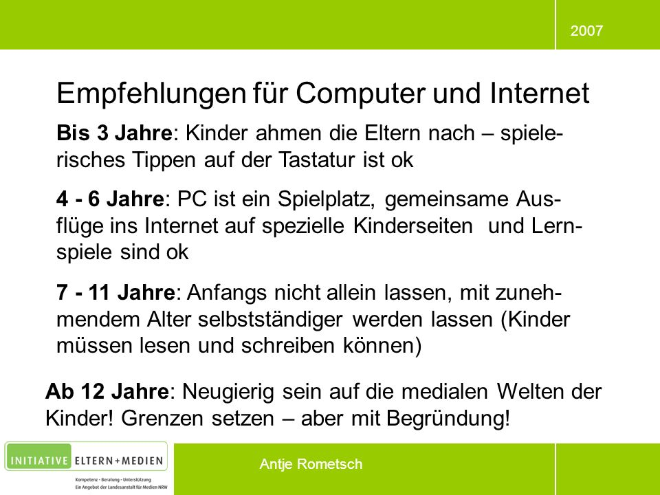 Empfehlungen für Computer und Internet