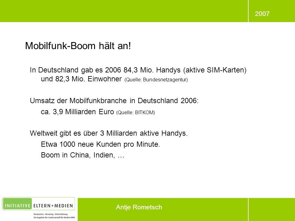 Mobilfunk-Boom hält an!