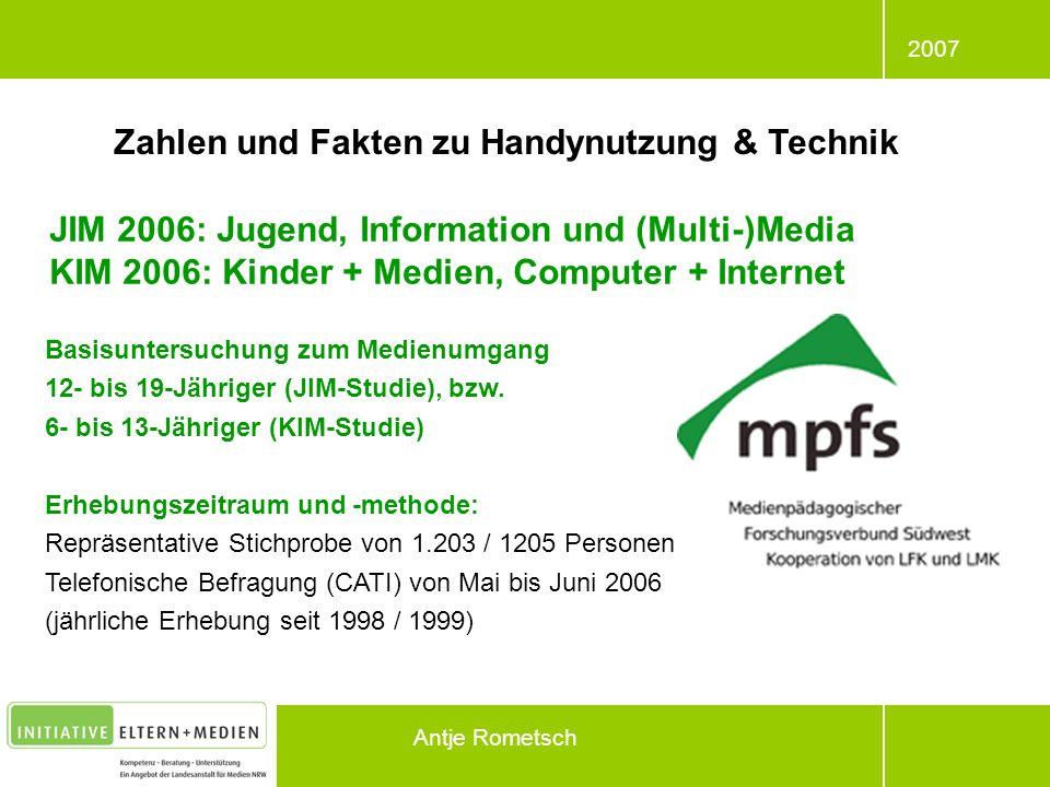 Zahlen und Fakten zu Handynutzung & Technik