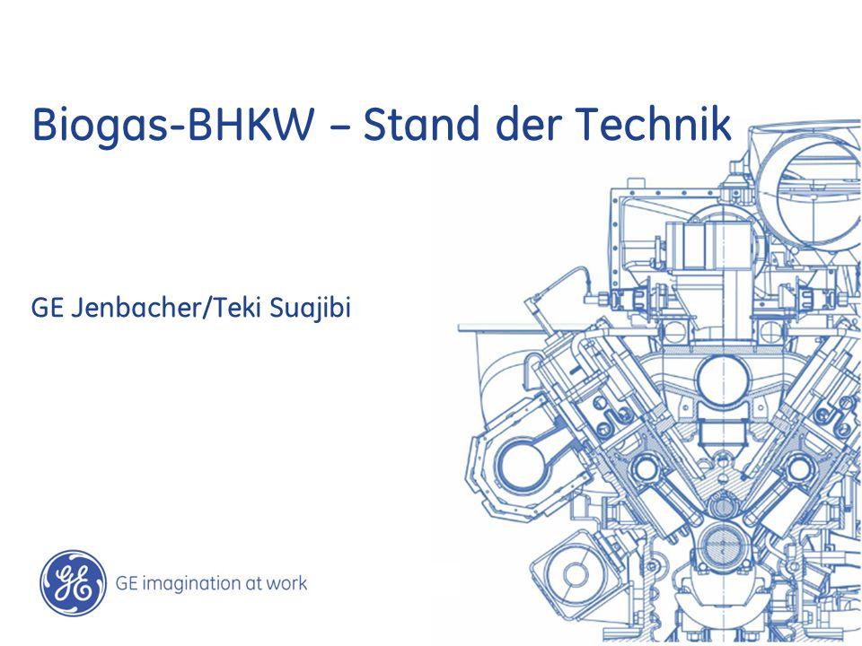 Biogas-BHKW – Stand der Technik GE Jenbacher/Teki Suajibi