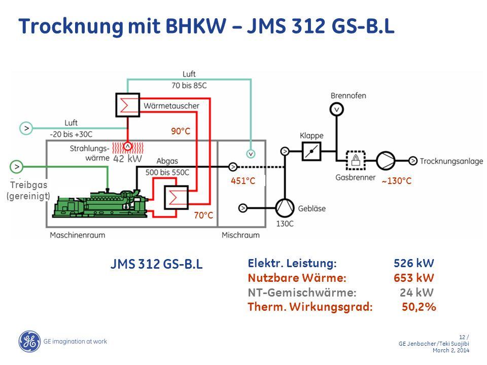 Trocknung mit BHKW – JMS 312 GS-B.L