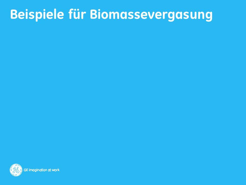 Beispiele für Biomassevergasung