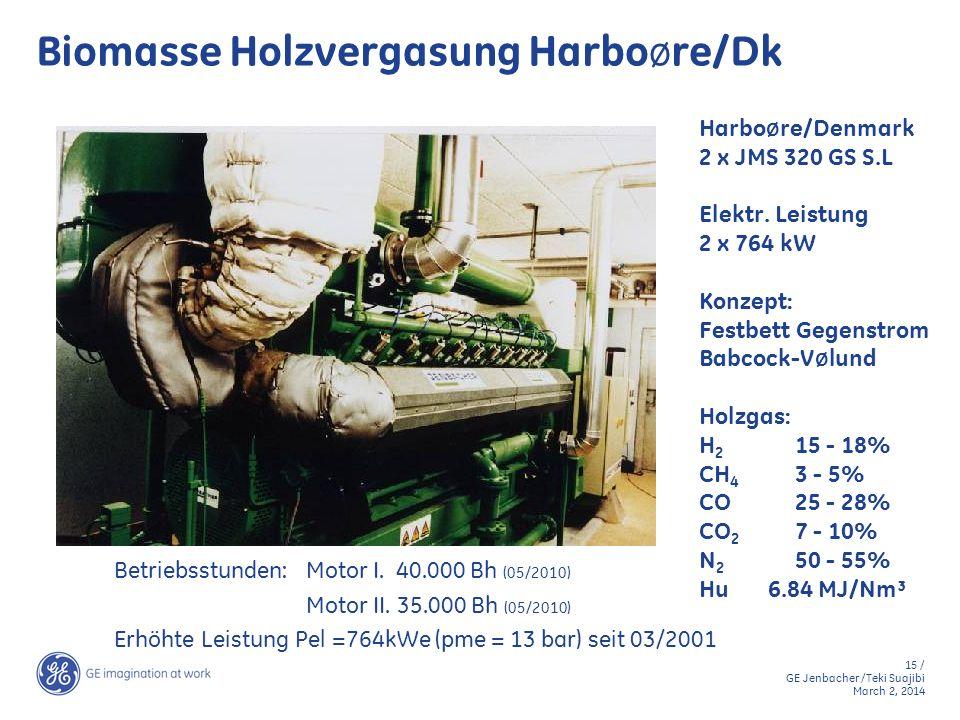 Biomasse Holzvergasung HarboØre/Dk