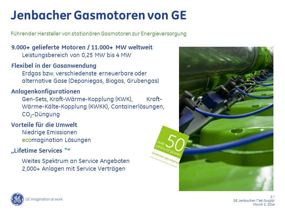Jenbacher Gasmotoren von GE