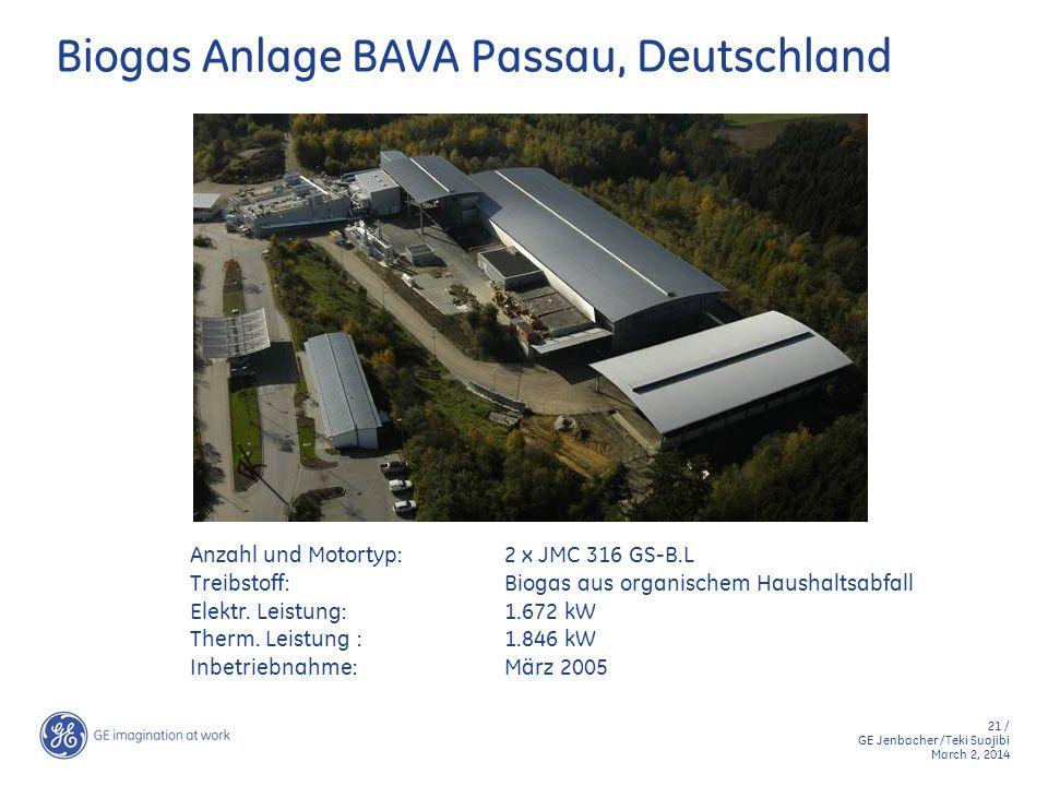 Biogas Anlage BAVA Passau, Deutschland