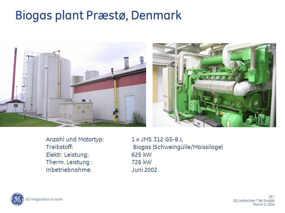 Biogas plant Præstø, Denmark