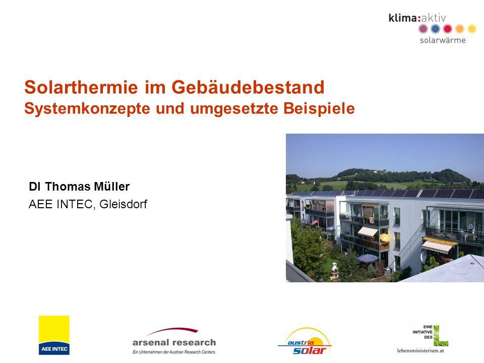 Solarthermie im Gebäudebestand Systemkonzepte und umgesetzte Beispiele